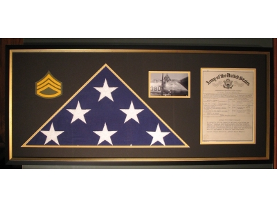 honor military service with a custom frame